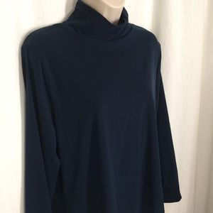 St John XL Mock Neck Blouse